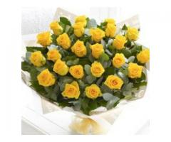 Order Online flowers to Visakhapatnam | Gift Yelow Roses Bunch in vizag